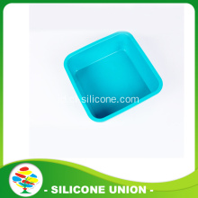 Light Blue Silicone Pet Dog Bowl Untuk Perjalanan